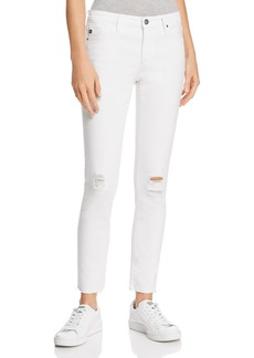 AG Legging Ankle Jeans in White Torn - 100% Exclusive