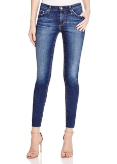 Ag Legging Ankle Jeans with Raw Hem in 7 Years Break