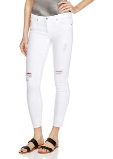 AG Legging Ankle Ripped Skinny Jeans in White