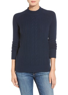 AG 'Leon' Cable Knit Merino Wool & Cashmere Sweater