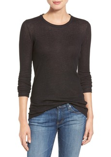 AG 'Logan' Ribbed Cotton Cashmere Tee