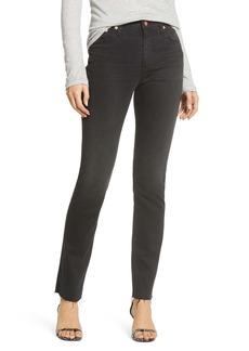 AG Adriano Goldschmied AG Mari High Waist Raw Hem Ankle Skinny Jeans (Somber)