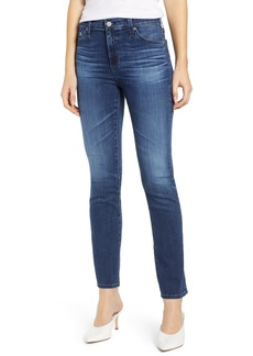AG Adriano Goldschmied AG Mari High Waist Slim Straight Leg Jeans (5 Year Blue Essence)