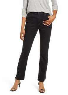 AG Adriano Goldschmied AG Mari Side Slit Raw Hem Jeans (Altered Black)