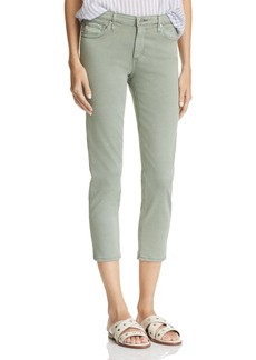 AG Mid Rise Cigarette Crop Jeans in Sulfur Silver Sage - 100% Exclusive