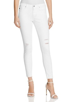 AG Middi Ankle Raw Hem Jeans in White Torn - 100% Exclusive