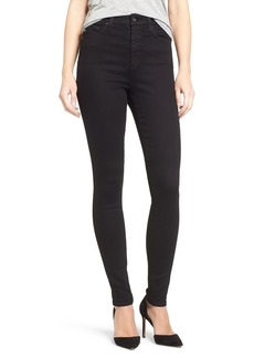 AG Adriano Goldschmied AG Mila High Rise Skinny Jeans (Over Dye Black)