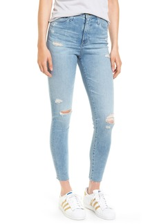 AG Mila High Waist Ankle Skinny Jeans (20 Years Oceana Destructed)