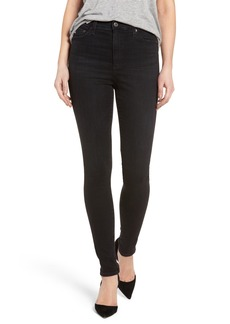 AG Mila High Rise Skinny Jeans (03 Years Black Obsidian)