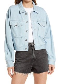 AG Adriano Goldschmied AG Mirah Fatigue Cotton & Silk Blend Trucker Jacket