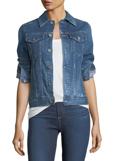 AG Adriano Goldschmied Mya Button-Down Denim Jacket