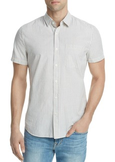 AG Adriano Goldschmied AG Nash Striped Button-Down Short Sleeve Shirt