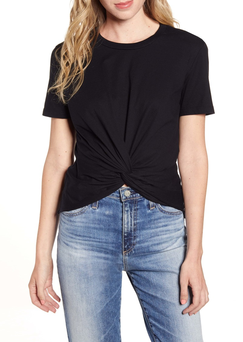 AG Adriano Goldschmied AG Neil Twist Front Stretch Cotton Tee