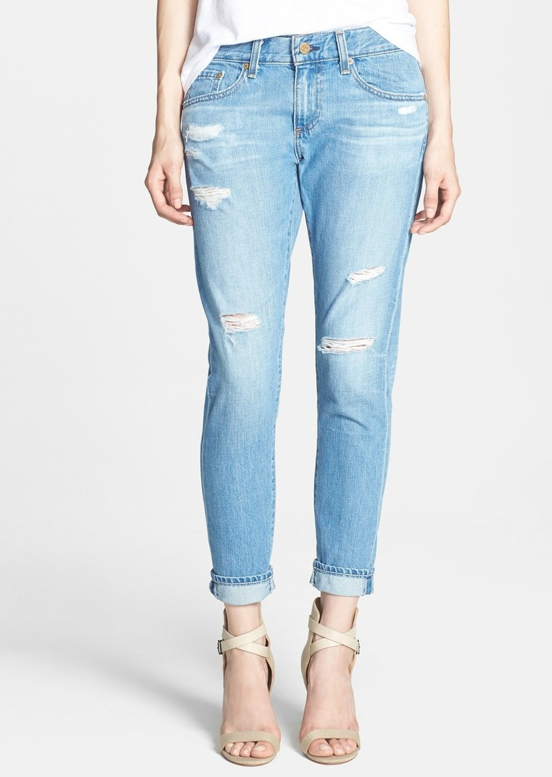 AG Adriano Goldschmied AG 'Nikki' Deconstructed Relaxed Skinny Crop Jeans (17 Years Lifted)