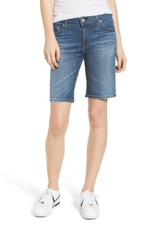 AG Adriano Goldschmied AG 'Nikki' Distressed Denim Bermuda Shorts (11 Years Sapphire Sky)