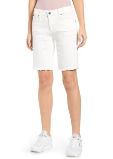 AG Adriano Goldschmied AG Nikki Relaxed Bermuda Shorts (1 Year Tonal White)
