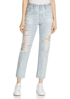AG Phoebe Distressed Straight-Leg Jeans in 22 Year Fearless