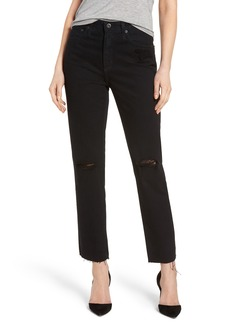 AG Phoebe High Rise Straight Leg Jeans (Rebellion)