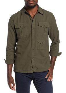 AG Adriano Goldschmied AG Pioneer Tri-Pocket Long Sleeve Slim Fit Sport Shirt