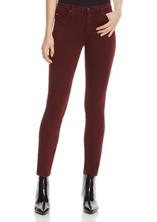 Ag Prima Cigarette Sateen Jeans in Deep Currant