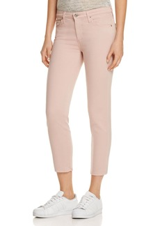 AG Prima Crop Skinny Jeans in Rose Quartz