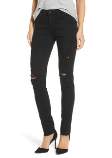 AG Prima Mid Rise Cigarette Jeans (5 Years Black Destructed)