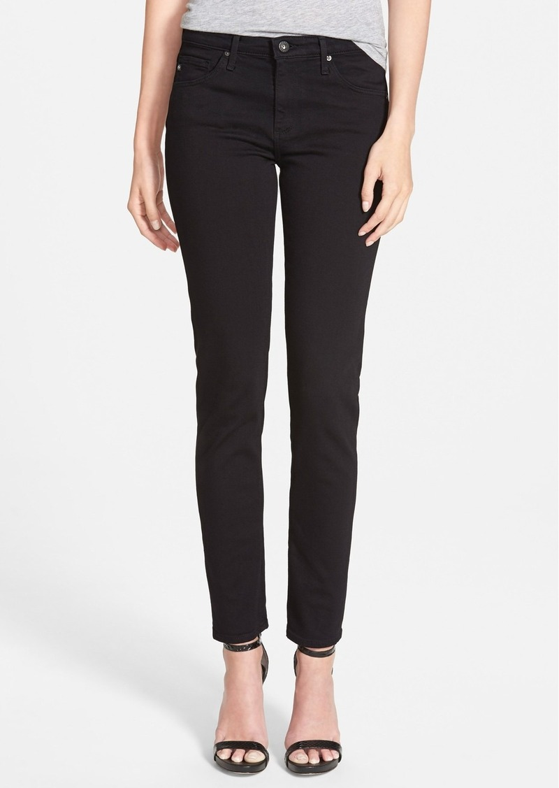 AG Adriano Goldschmied AG 'Prima' Mid Rise Cigarette Jeans (Super Black)