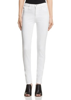 AG Prima Mid-Rise Cigarette Sateen Jeans in White