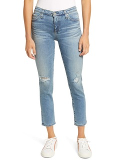 AG Adriano Goldschmied AG Prima Mid Rise Distressed Crop Cigarette Jeans