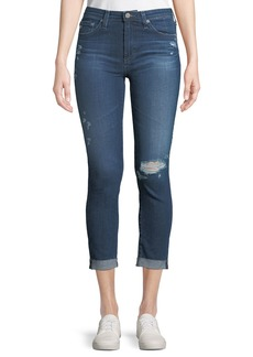 AG Adriano Goldschmied Prima Mid-Rise Skinny Crop Roll-Up Jeans