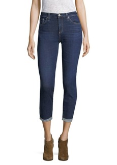 AG Adriano Goldschmied Prima Mid-Rise Roll Up Cigarette Jeans