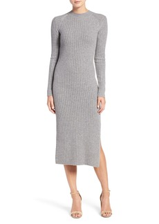 AG Adriano Goldschmied AG Reign Merino Wool & Cashmere Sweater Midi Dress