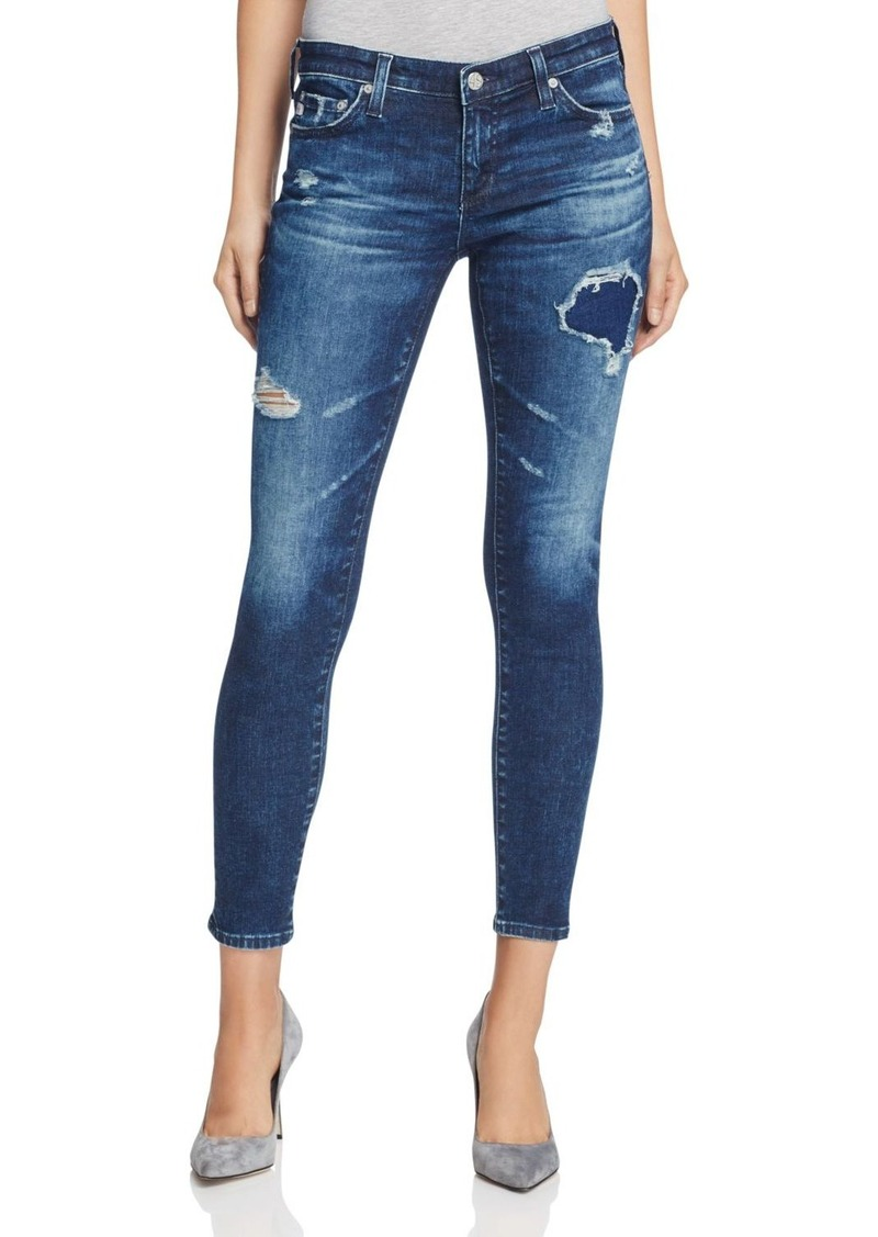 AG Adriano Goldschmied AG Rev Distressed Super Skinny Ankle Jeans