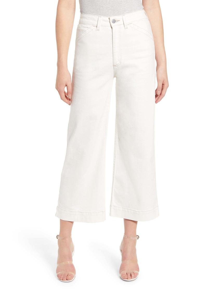 AG Adriano Goldschmied AG Rosie High Waist Crop Wide Leg Jeans (Moderne White)