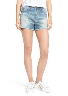 AG Adriano Goldschmied AG Sadie High Waist Cutoff Denim Shorts (17 Years Lapse Mended)