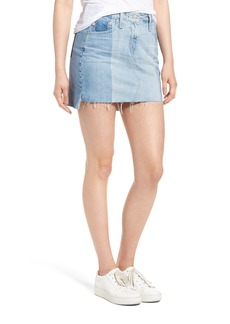 AG Sandy Raw Edge Denim Miniskirt