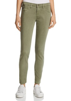 Ag Sateen Ankle Legging Jeans in Sulfur Harvest Olive