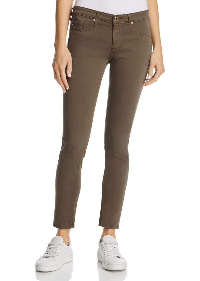 AG Adriano Goldschmied AG Sateen Legging Ankle Jeans in Army Green - 100% Exclusive
