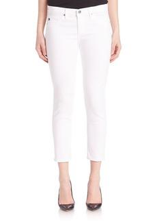 AG Sateen Stilt Crop Jeans
