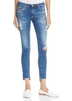 AG Step-Hem Ankle Legging Jeans in 14 Years Radiant Blue