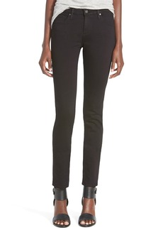 AG 'Stilt Cigarette' Skinny Jeans (Super Black)