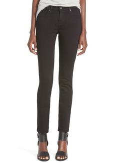 AG 'Stilt Cigarette' Skinny Jeans (Super Black)
