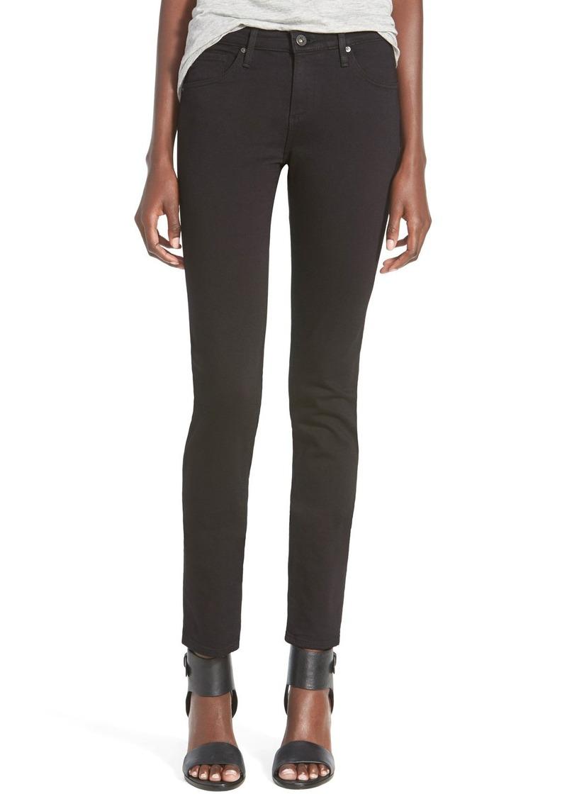 AG Adriano Goldschmied AG 'Stilt Cigarette' Skinny Jeans (Super Black)
