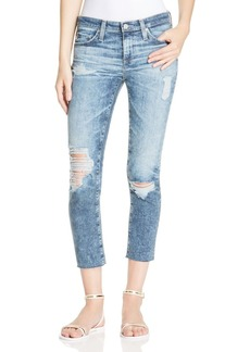 AG Stilt Crop Jeans in Destructed Wash