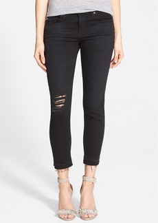 AG 'Stilt' Crop Jeans (Repurposed Black)