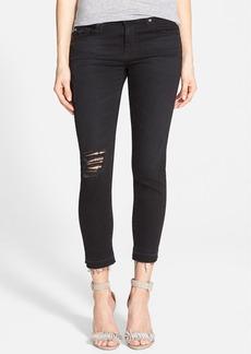 AG 'Stilt' Crop Jeans (Repurposed Black)