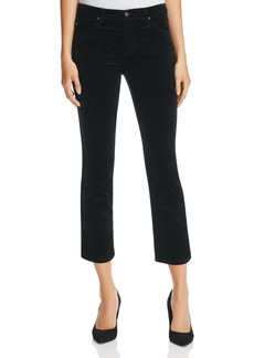 AG Stretch Velvet Slim Crop Flare Jeans in Black