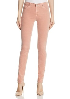 Ag Super Skinny Ankle Velvet Leggings in Rose Gold