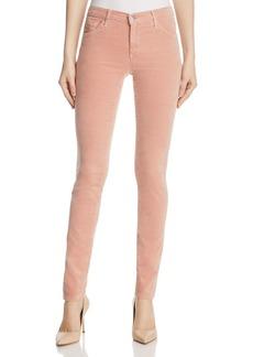 AG Super Skinny Ankle Velvet Leggings in Rose Gold
