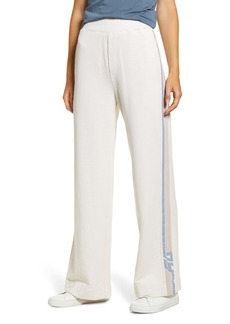 AG Adriano Goldschmied AG Swetta Logo Stripe Cotton Flare Pants